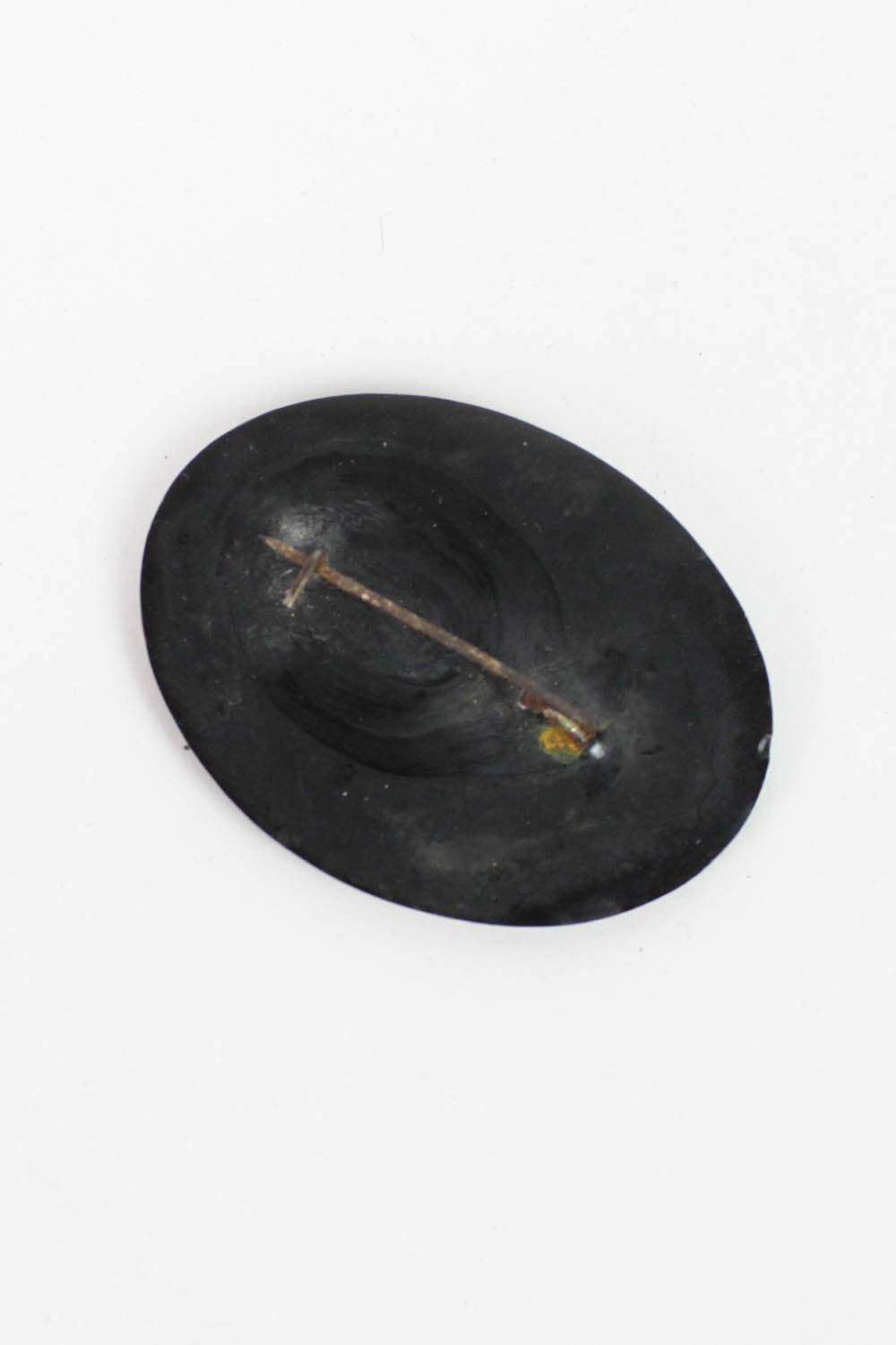 Distressed Toleware Brooch