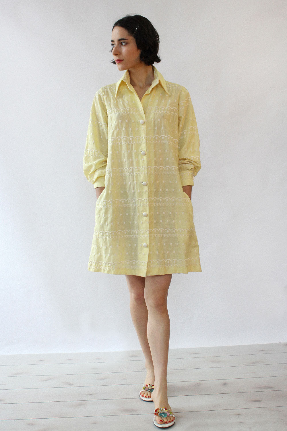 Buttercup Embroidered Jacket/Dress XS-M