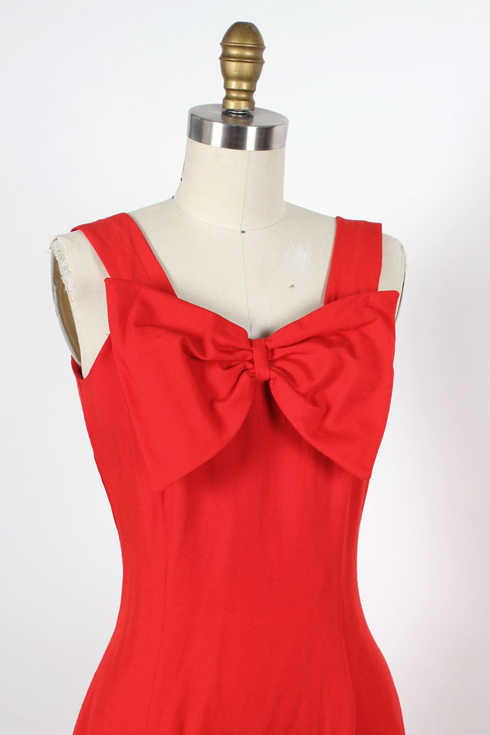 Little Red Bow Dress XS
