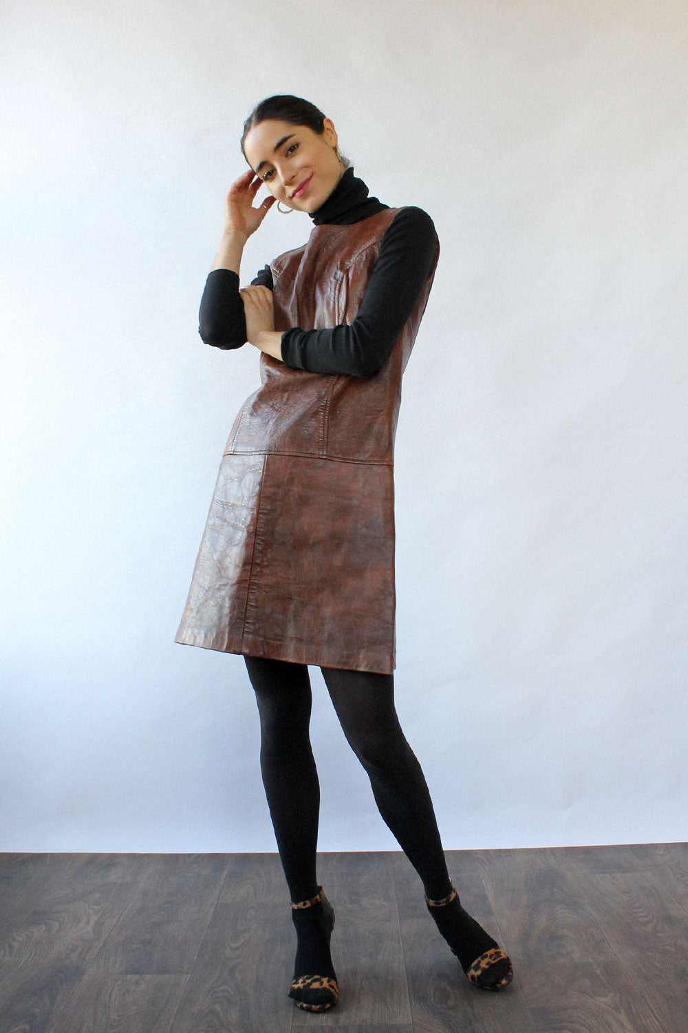 Berg Leather Jumper Dress XS/S