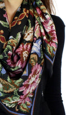 pixelated floral scarf