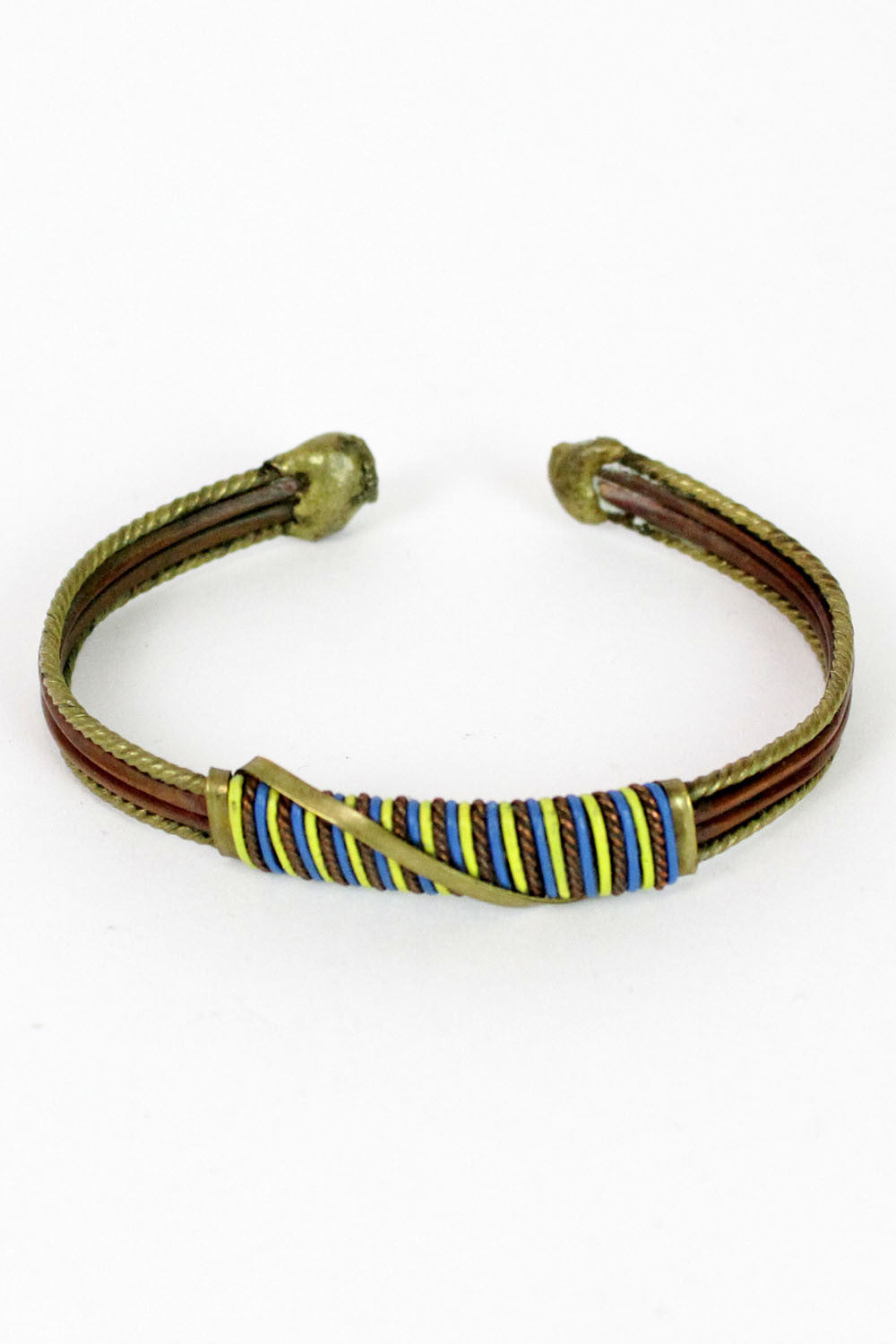 wrapped metal bracelet