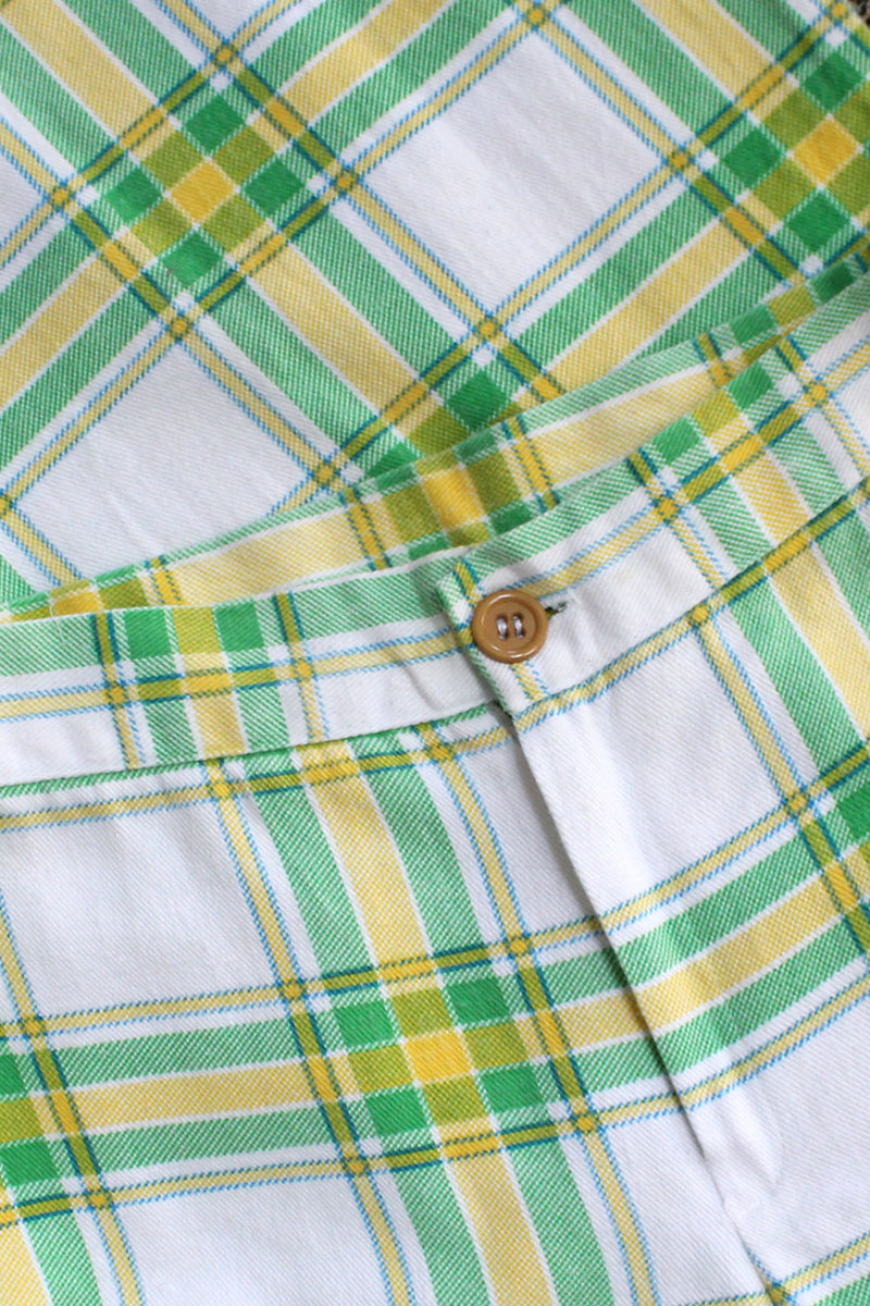 Lime Plaid Elephant Bells S/M