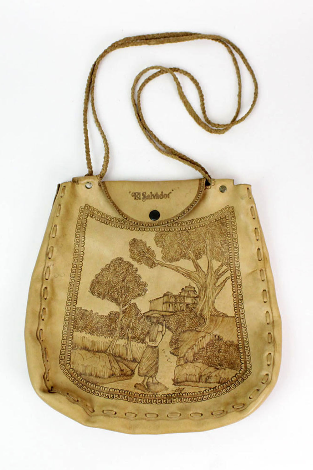 villager leather tote