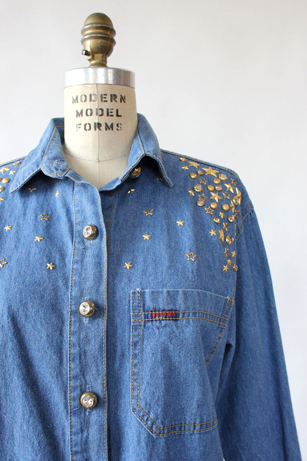 Star Studded Denim Shirt M/L