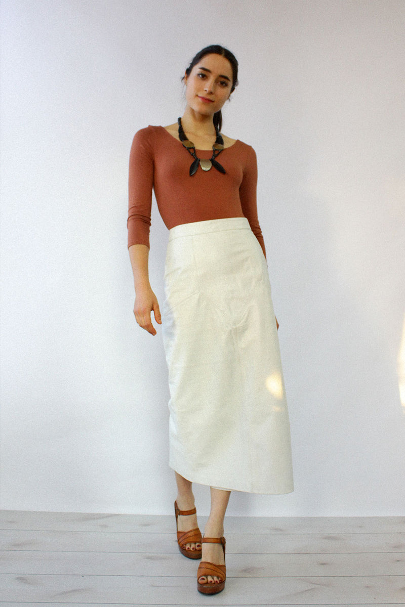 White Hot Leather Skirt XS