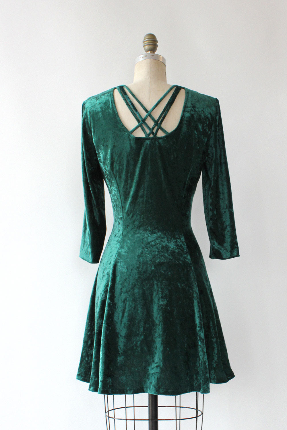 Forest Velvet Crossback Dress M/L