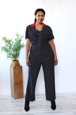 Graphic Polka Dot Jumpsuit L