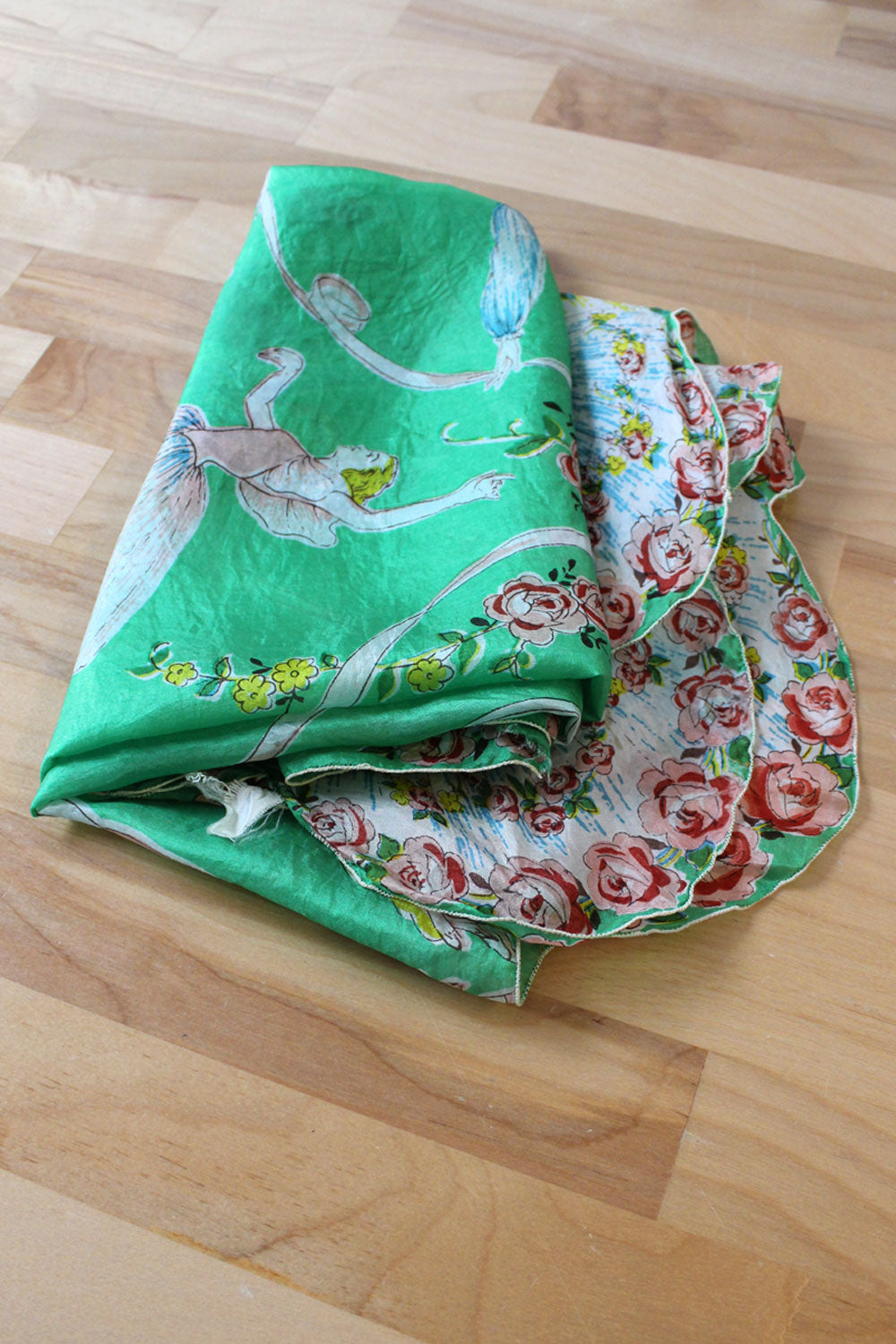Ballet Print Silk Scarves (pair)