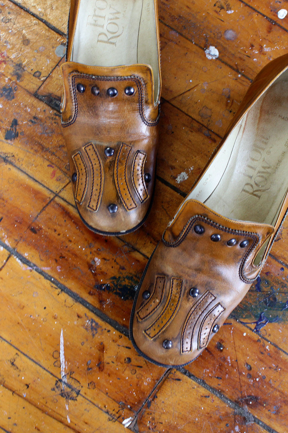 Clara Caramel Heeled Loafers 7