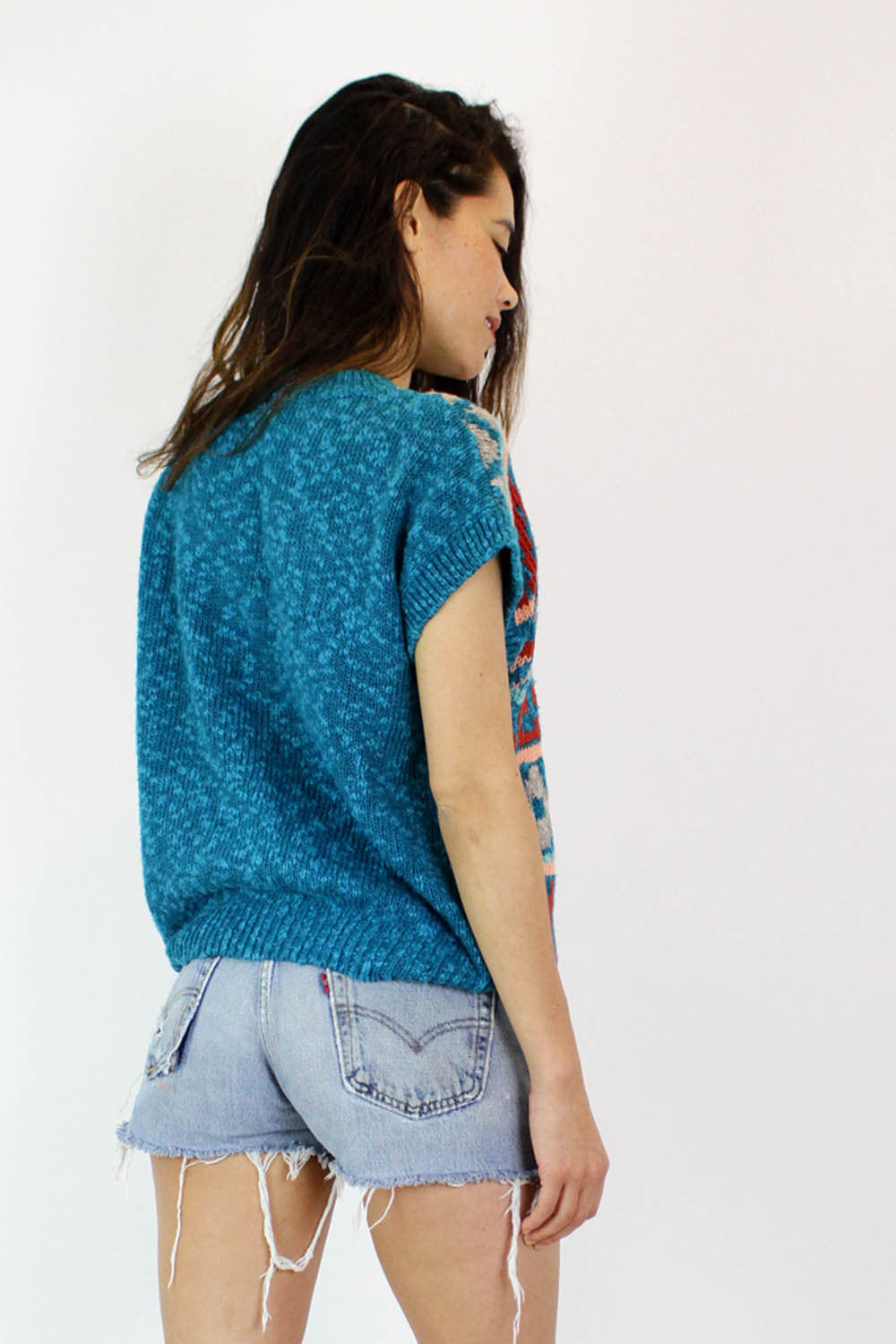 Geometric Knit Slouch Top M/L