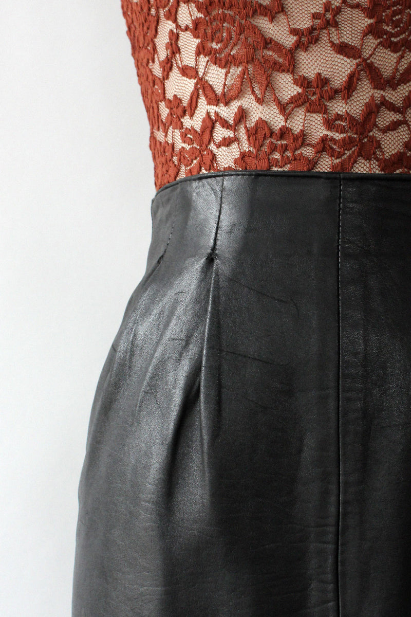 Dana Napa Leather Pencil Skirt M