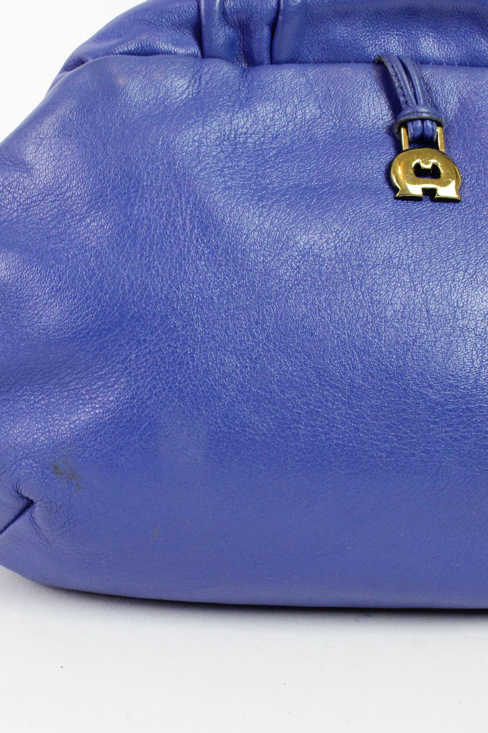 Etienne Aigner periwinkle clamshell leather bag