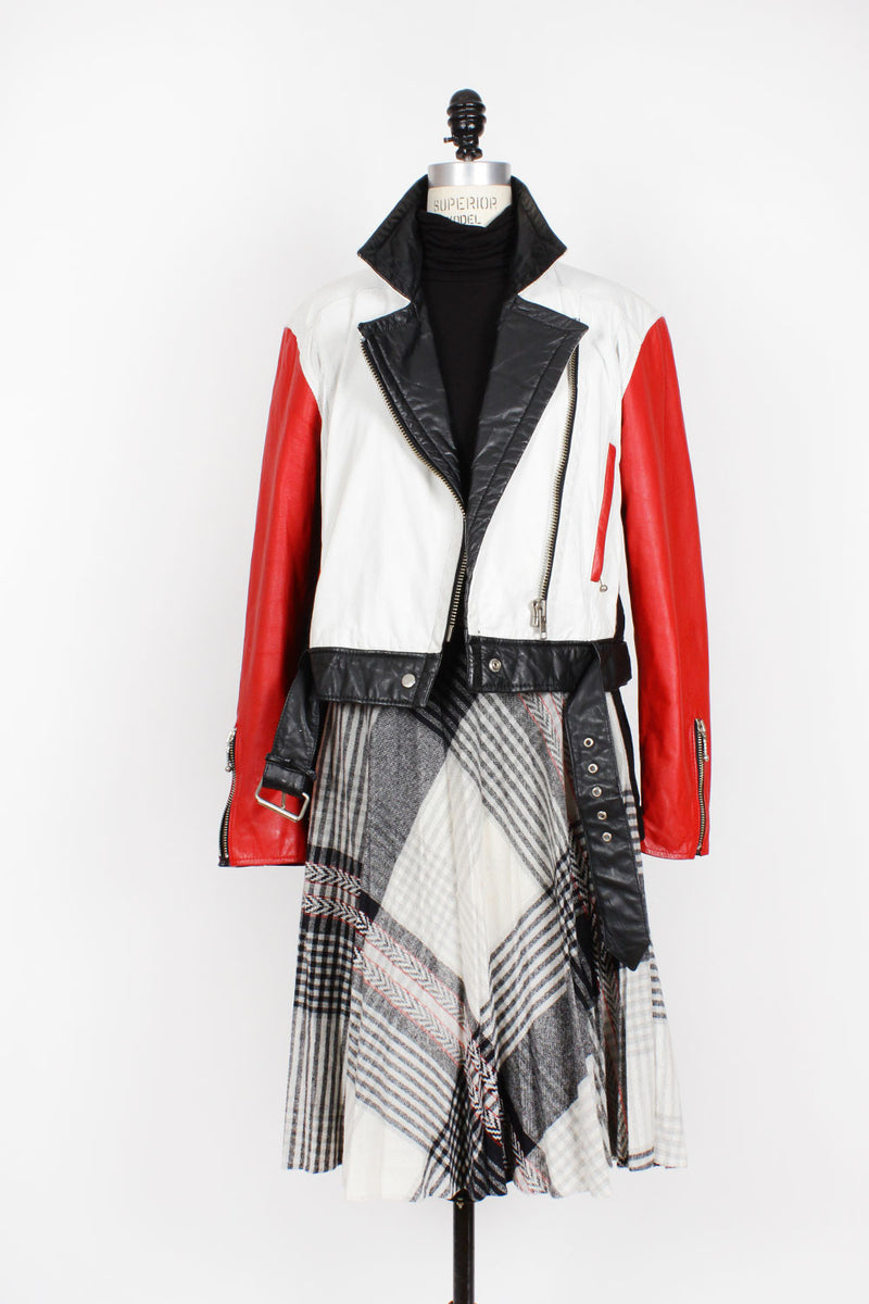 Colorblock Moto Jacket M