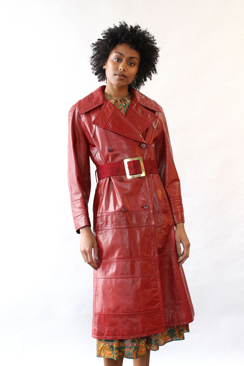 Brick Red Leather Jacket M/L