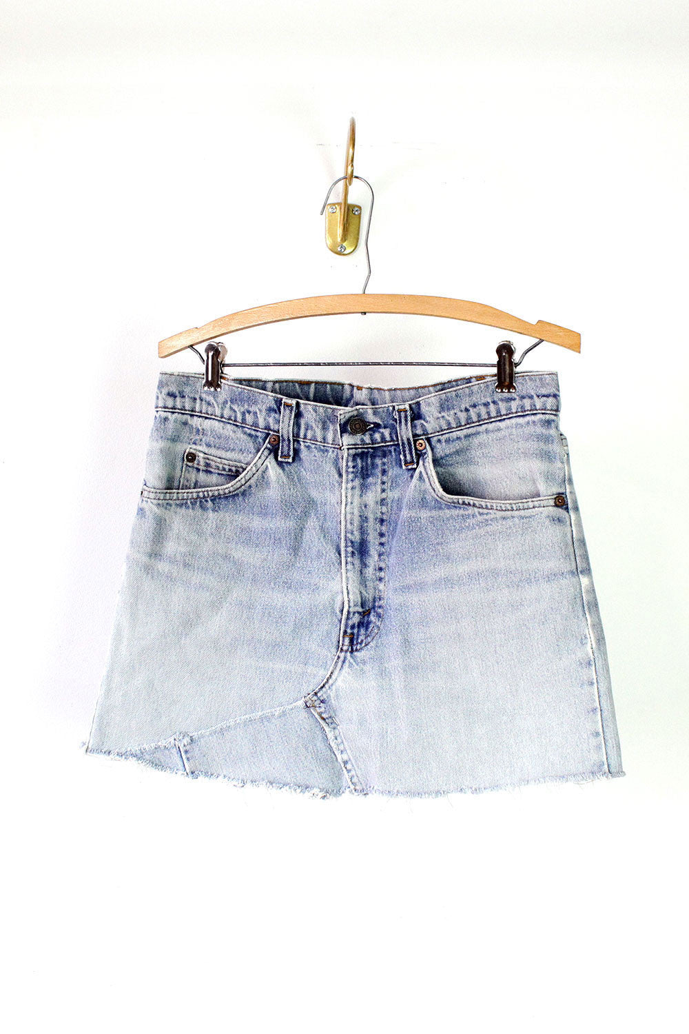Denim Cutoff Skirt M