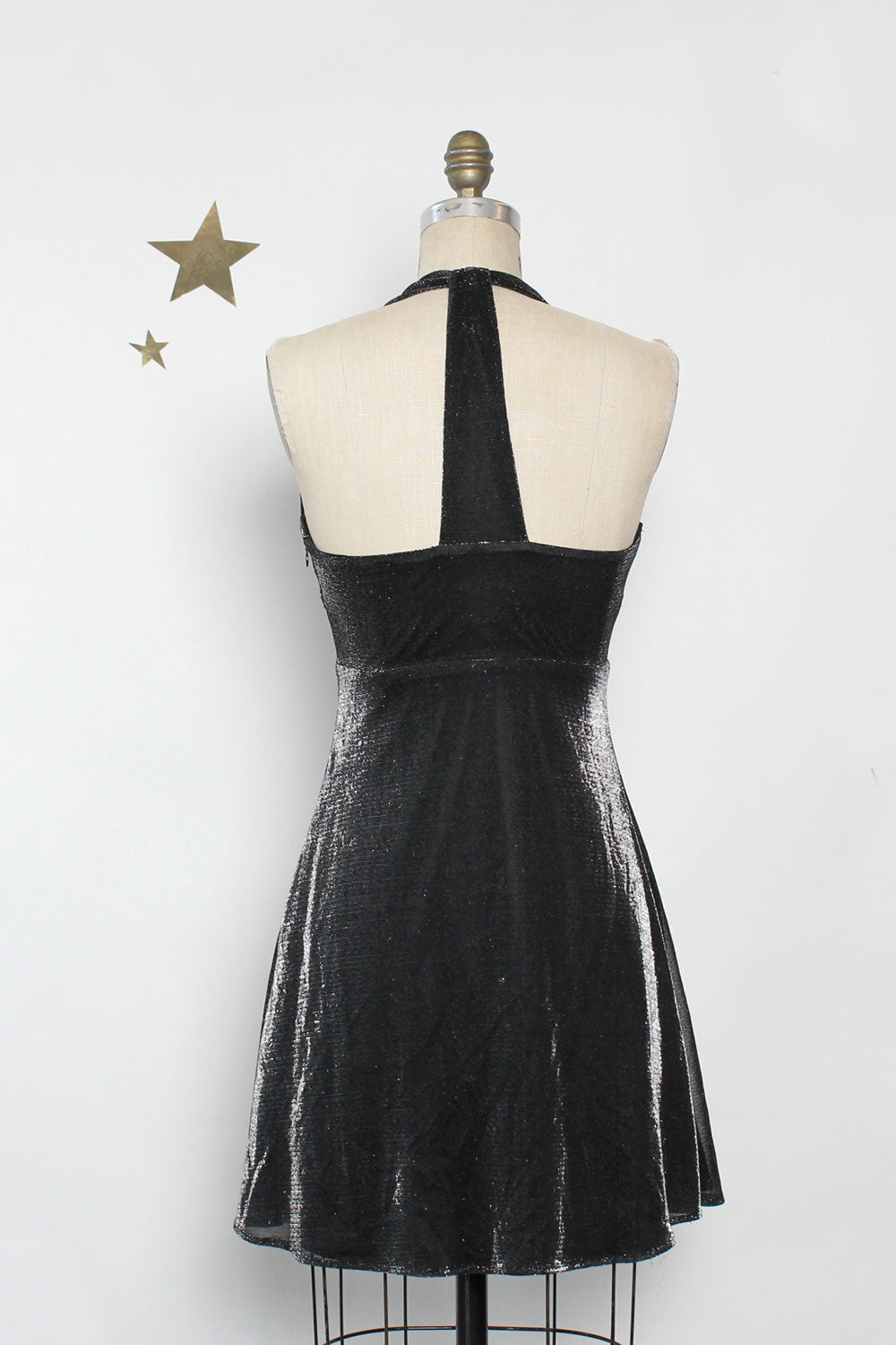 Mica Iridescent Halter Dress S/M
