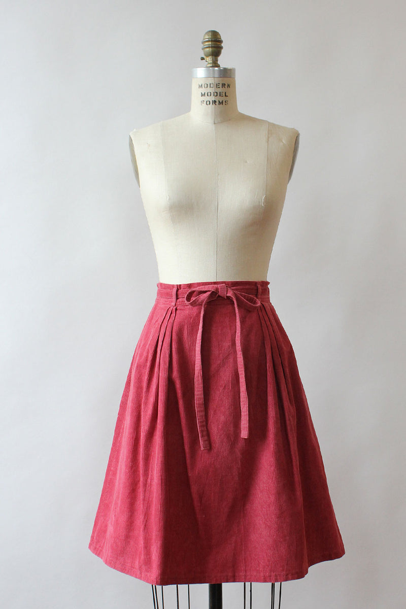 Raspberry LL Bean Wrap Skirt S-L