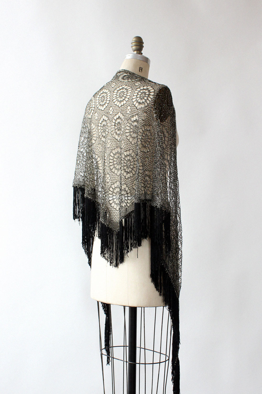 Gunmetal Crochet Shawl