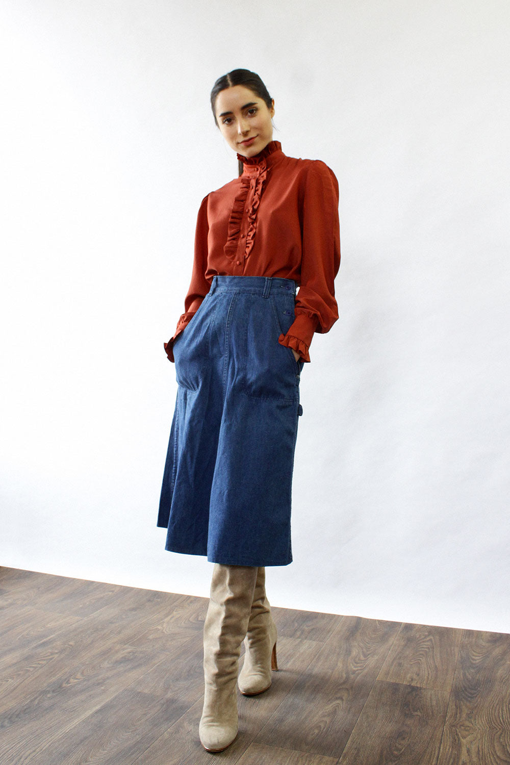 Ralph Lauren Denim Engineer Skirt S