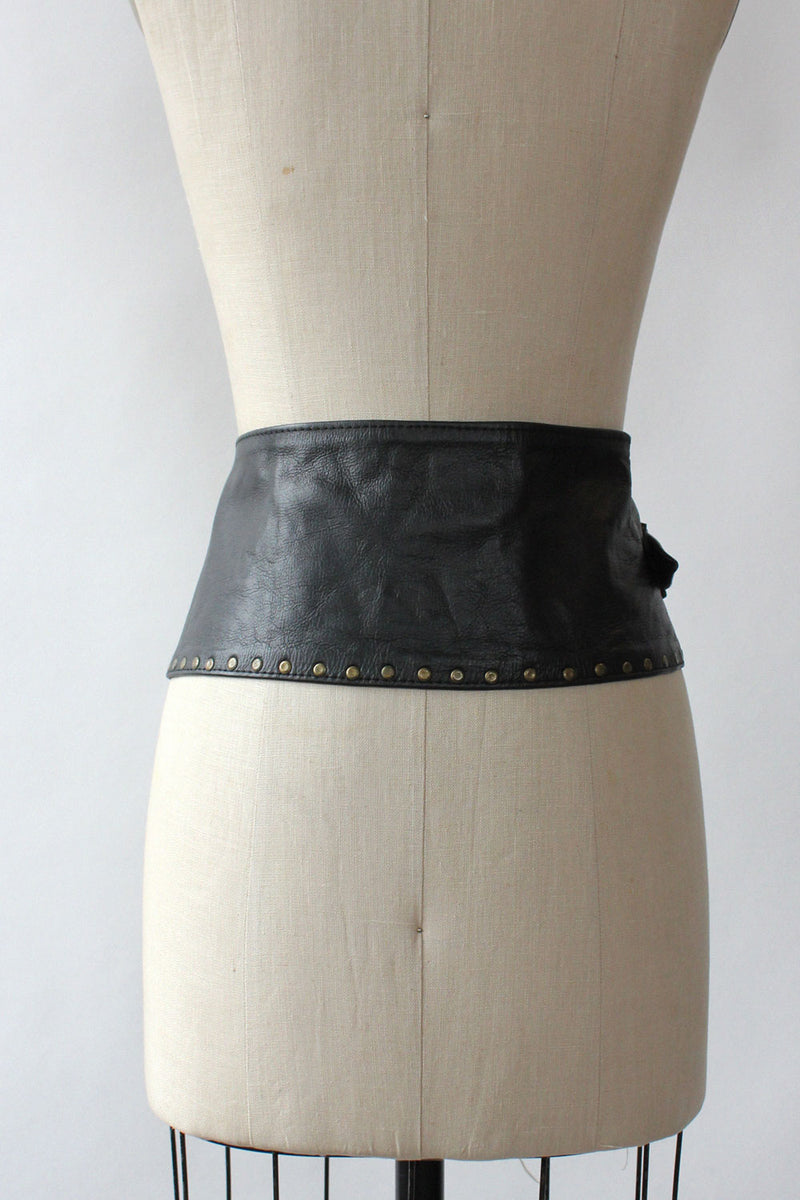 Studded Leather Yoke Belt