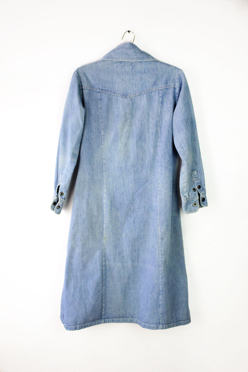 70s Zee Denim Shirtdress M/L