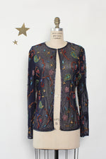 Suzi Beaded Sheer Cardigan M/L