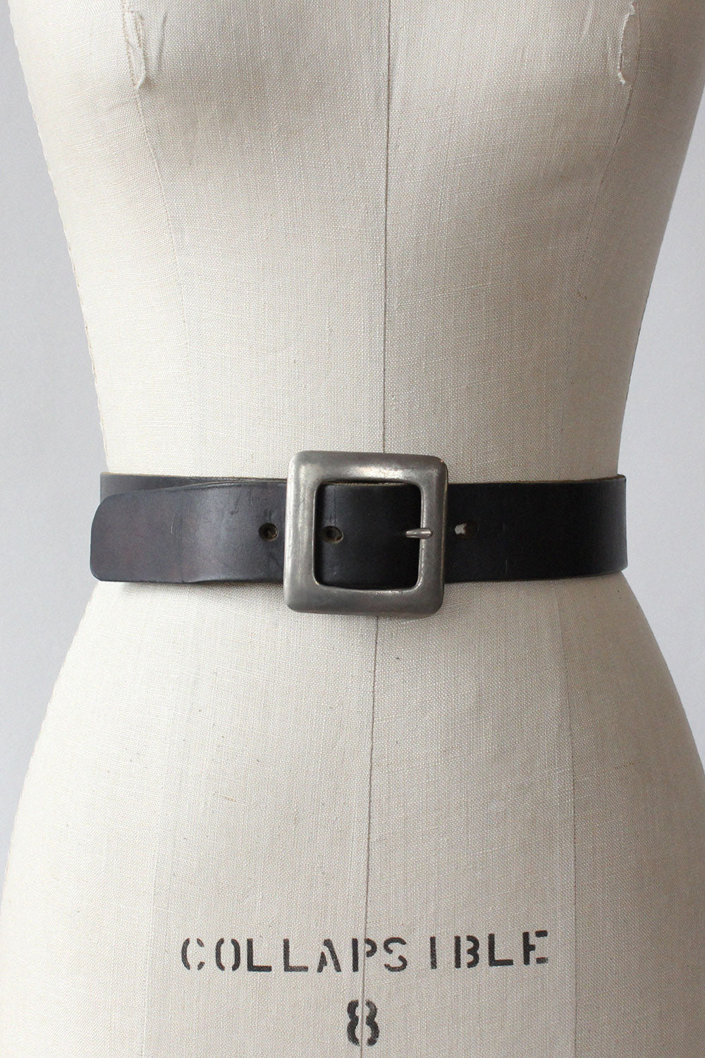 Thick Leather Pilgrim Buckle Belt
