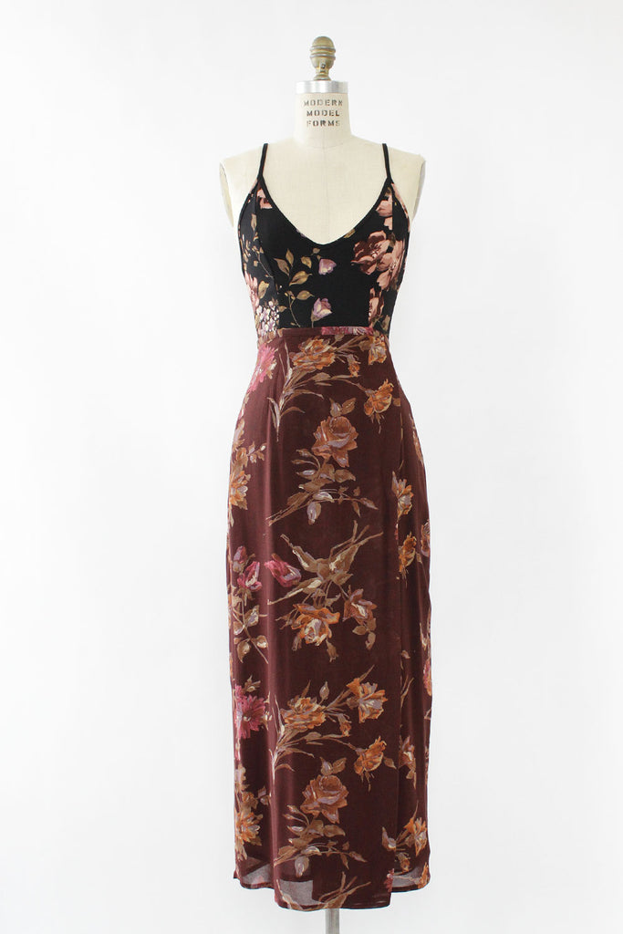 Wine and Roses Maxi Skirt XS/S