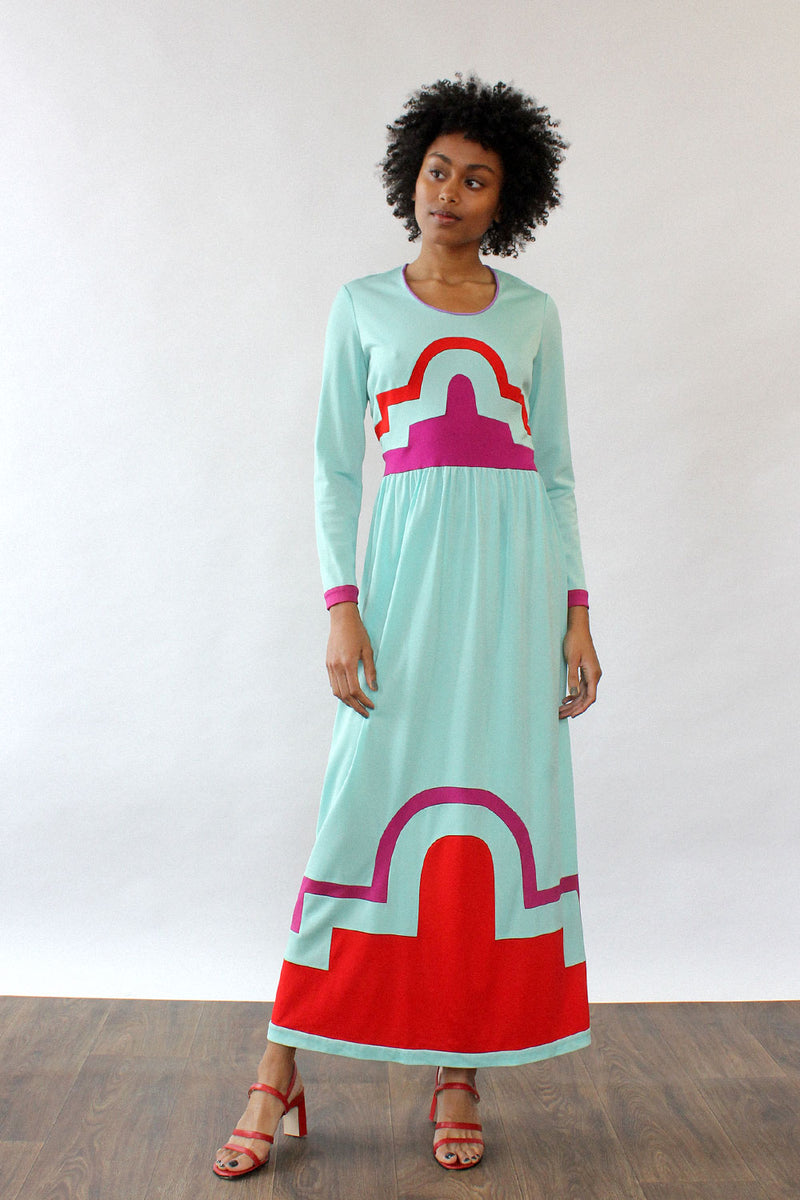 Janelle Geometric Maxi Dress M