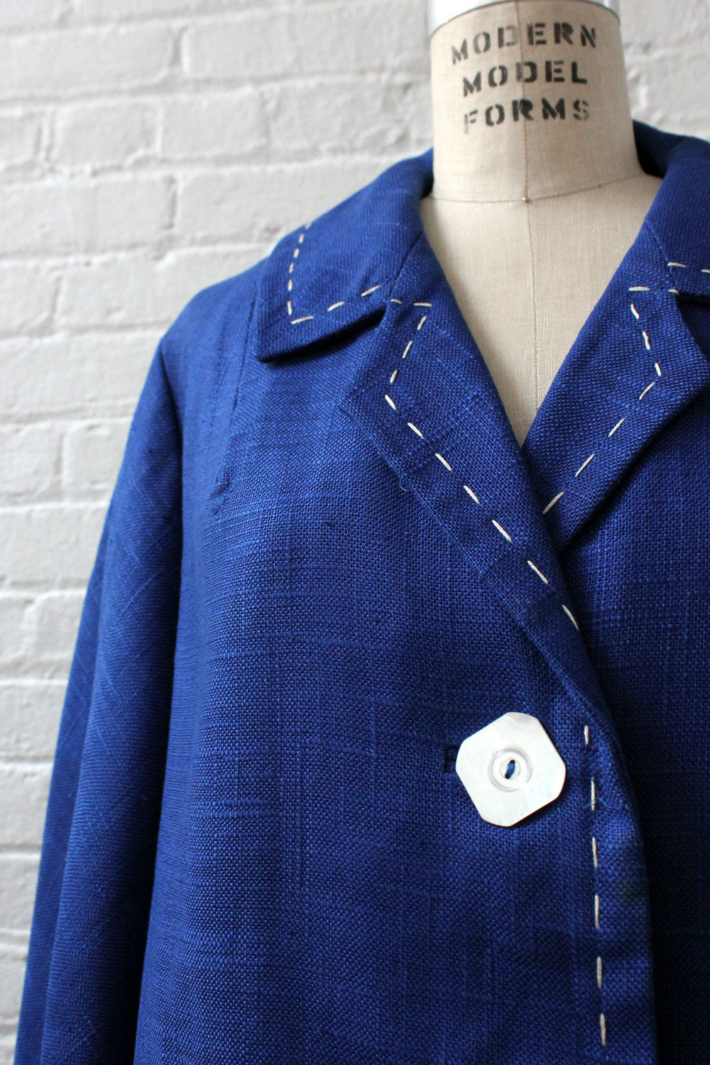 Cobalt Topstitch Jacket S/M