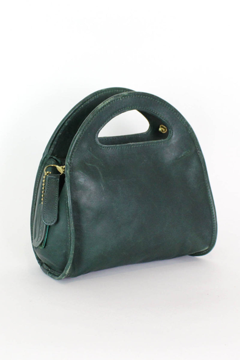 Hunter Green Coach Handbag