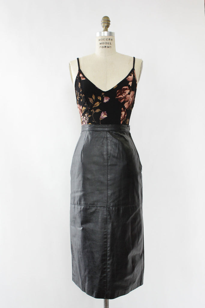 Madonna Black Leather Skirt XS/S