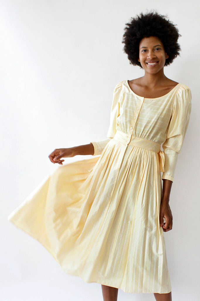 Buttercup Puff Dress S