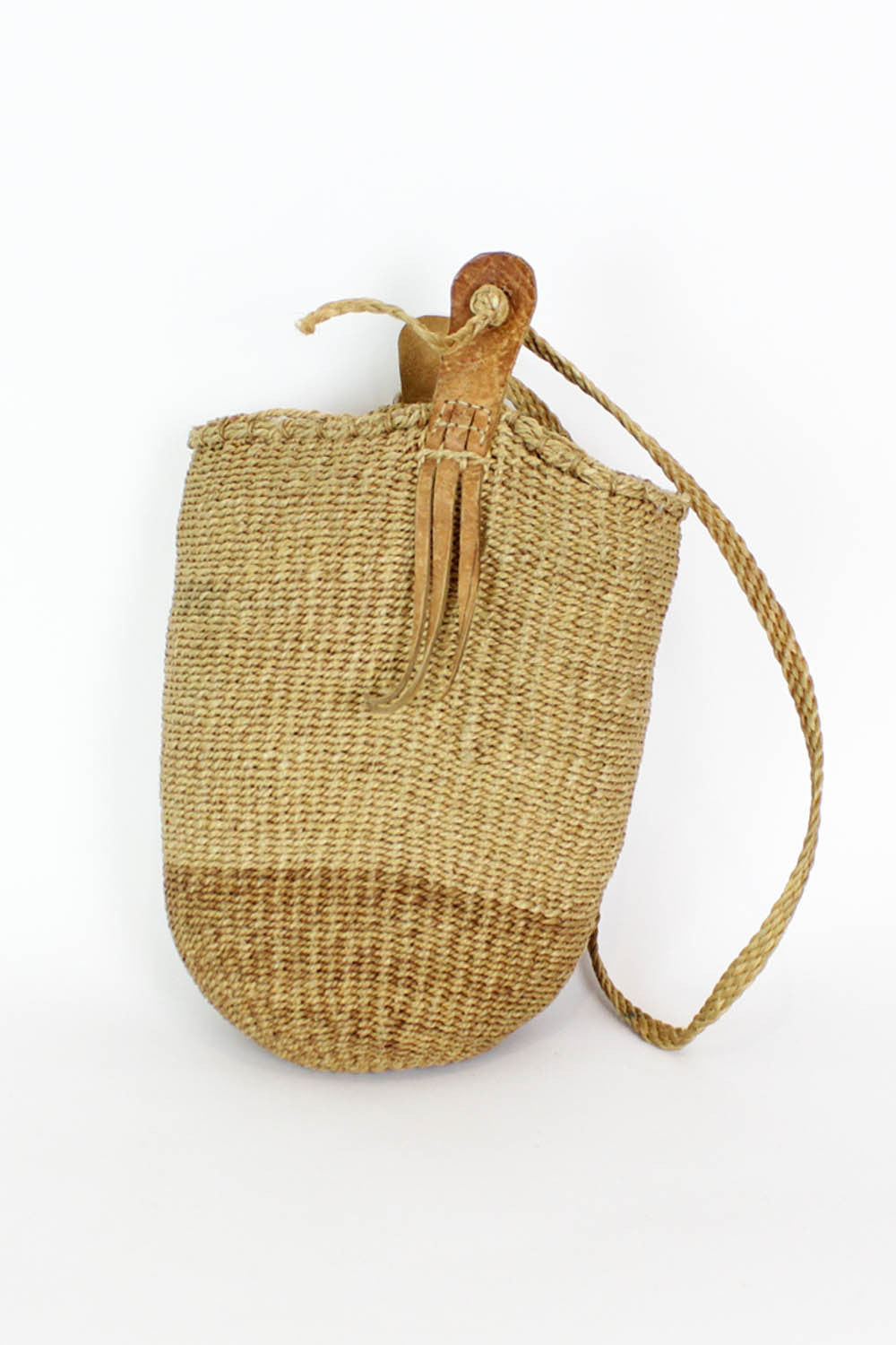 Single Strap Straw Bucket Bag
