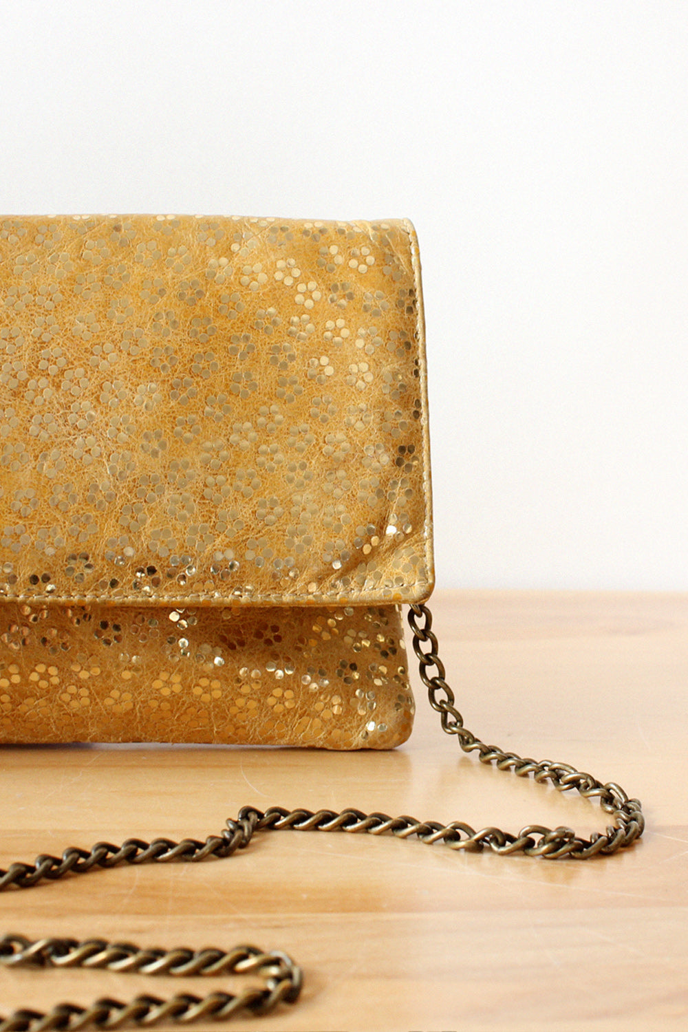 Etui Golden Floral Leather Purse