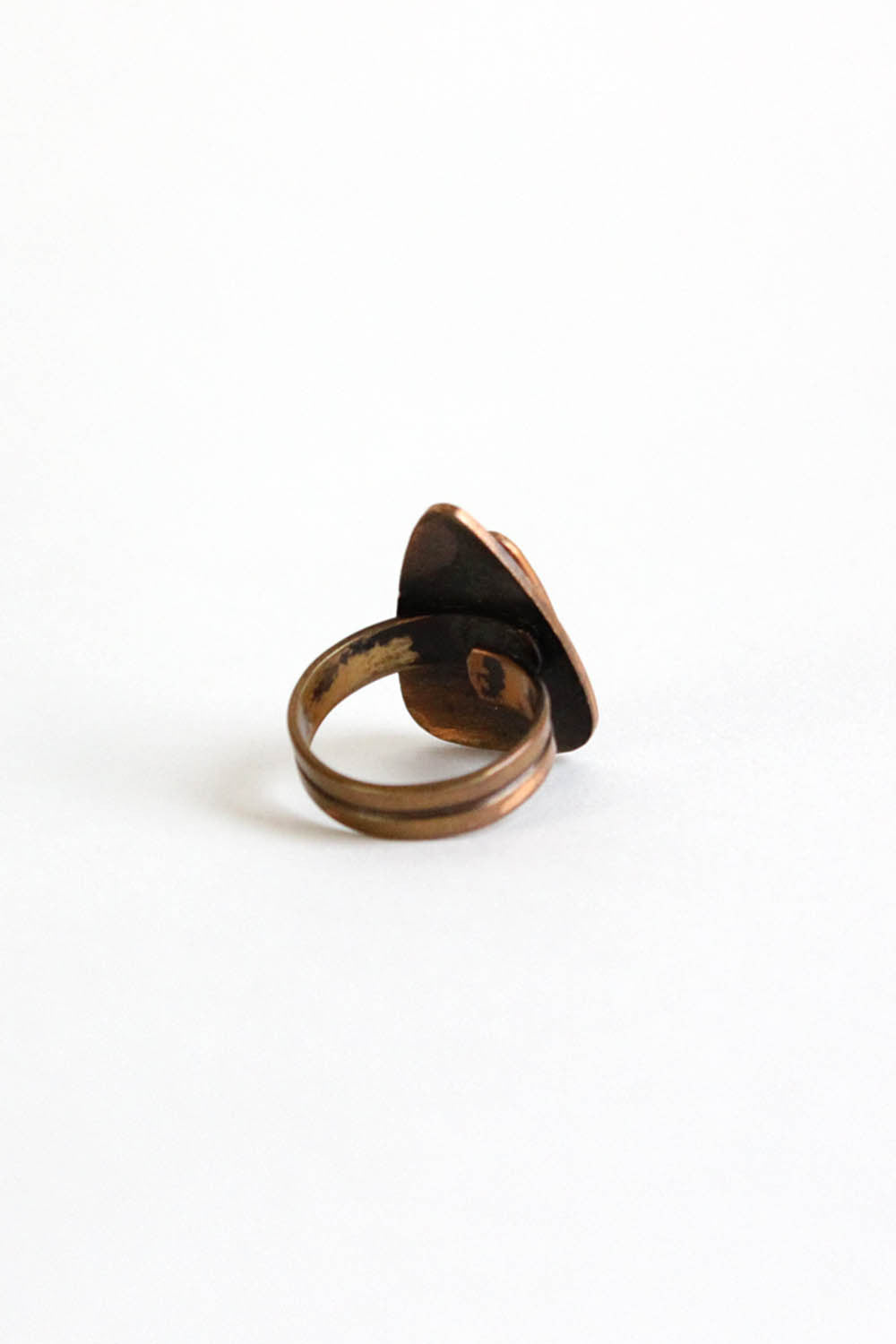 60s Copper Dish Ring