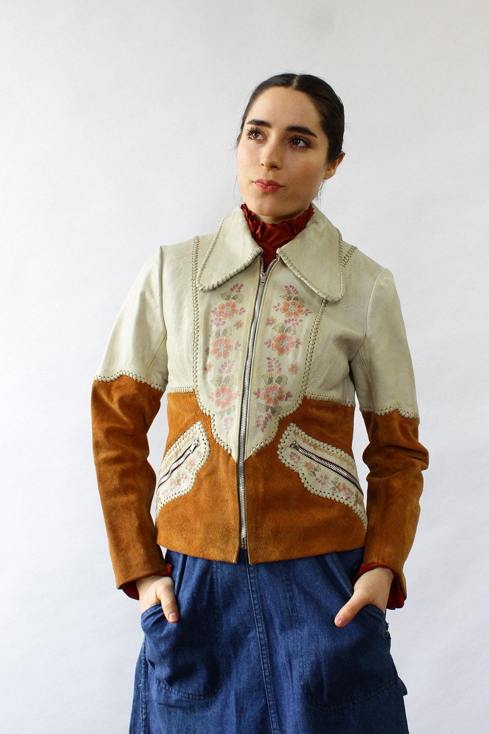 Char Handpainted Leather Jacket XS