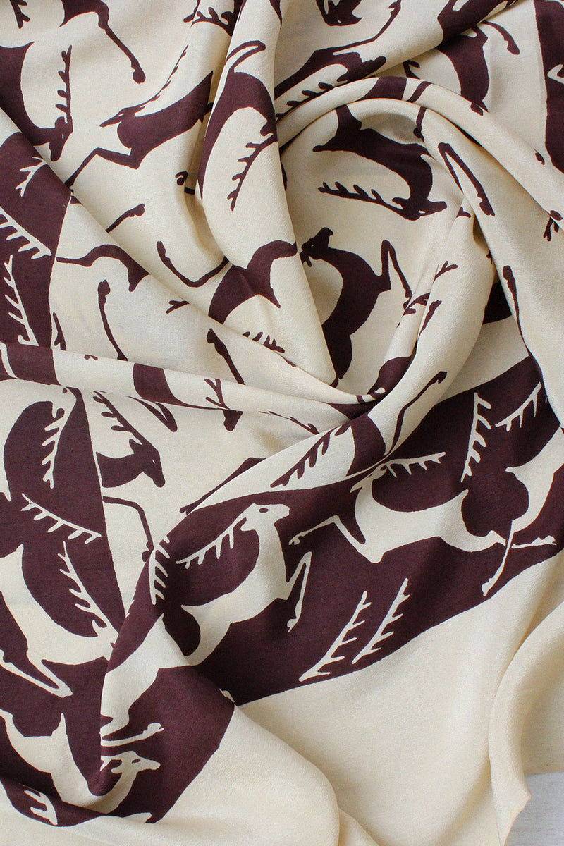 Silk Reindeer Shadow Scarf