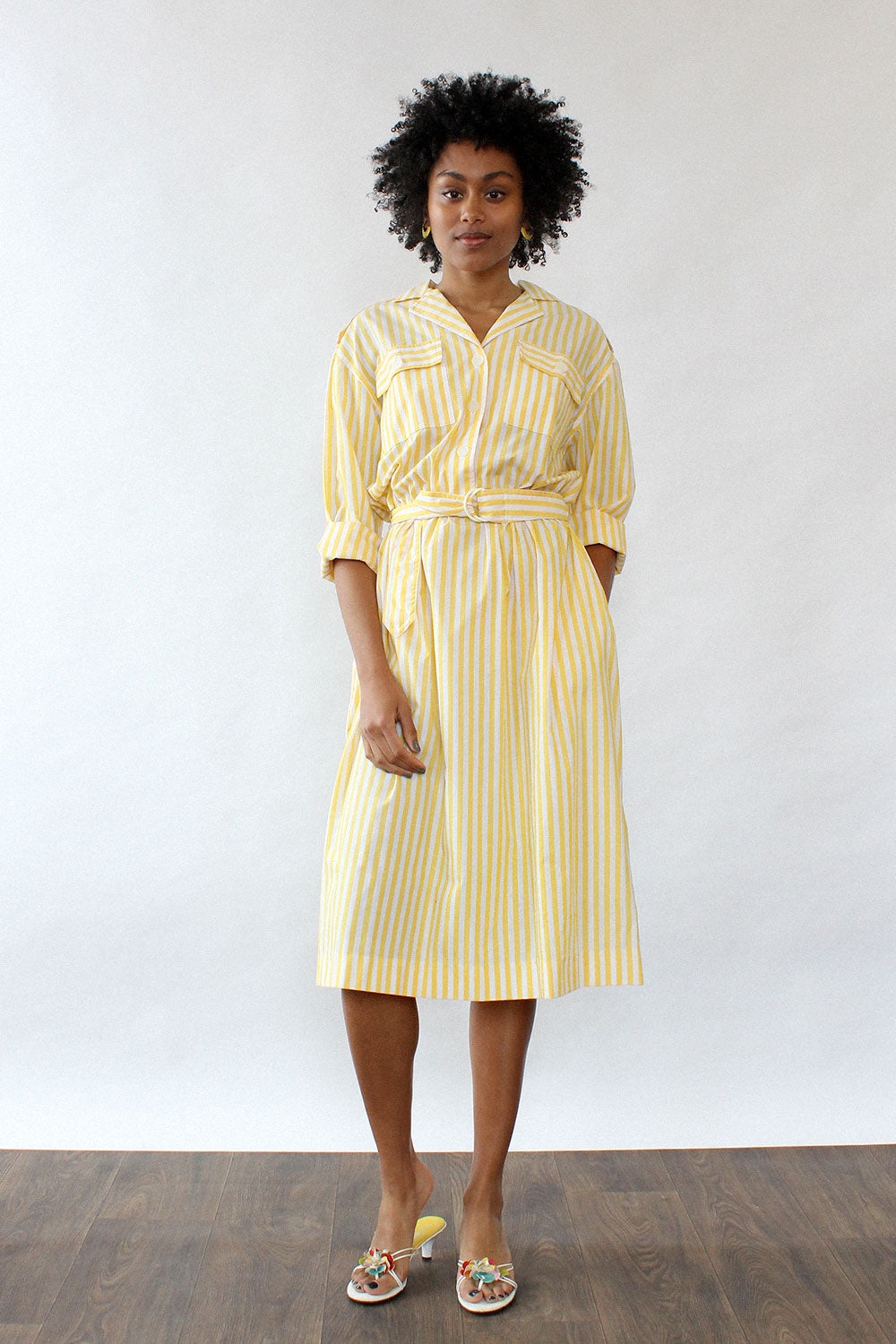 Dandelion Stripe Shirtdress M/L