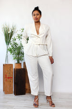 Ivory Power Pant Suit M/L