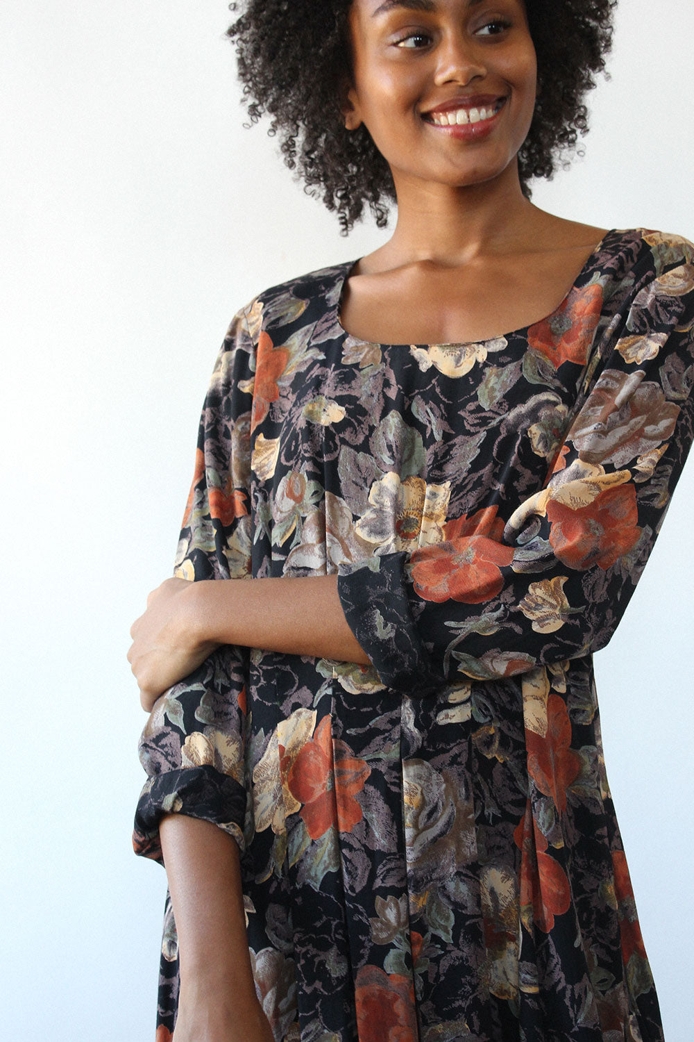 Carole Painterly Floral Dress M/L