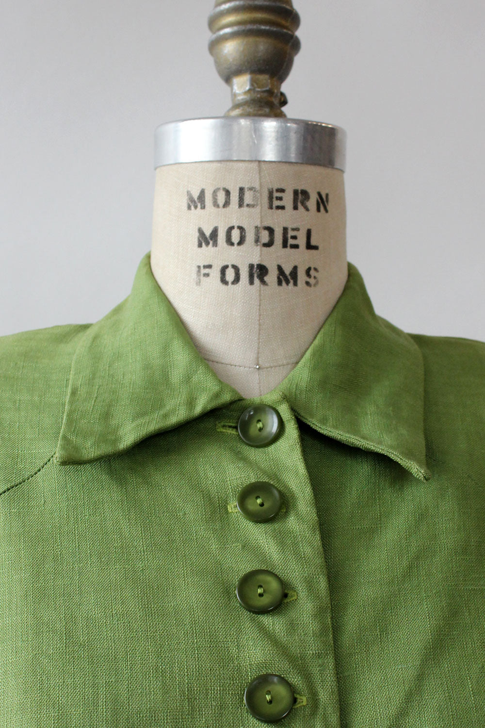 Majestic Lime Linen Buttondown S/M