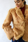 Caramel Rabbit Fur Coat XS/S