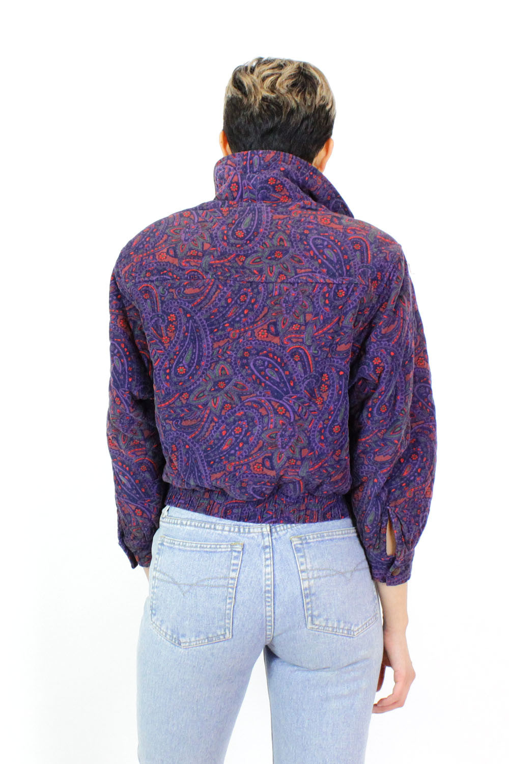 Saks Fifth Ave Paisley Puff Jacket S