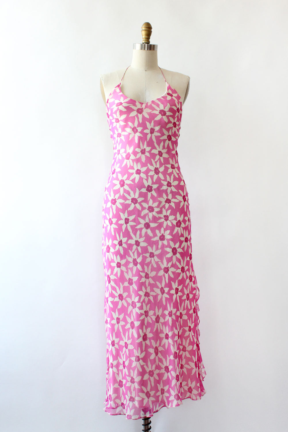 Ralph Lauren Fuchsia Silk Bias Dress XS/S