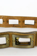 70s Calderon Brass Window Belt S/M