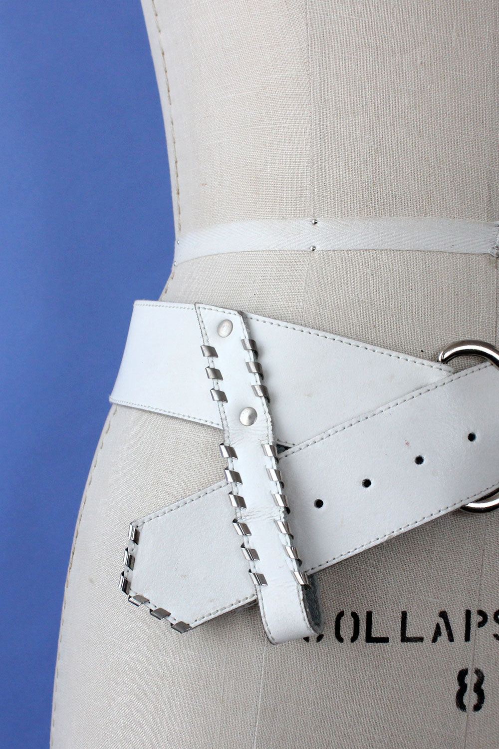 Blanc Leather 80s Belt