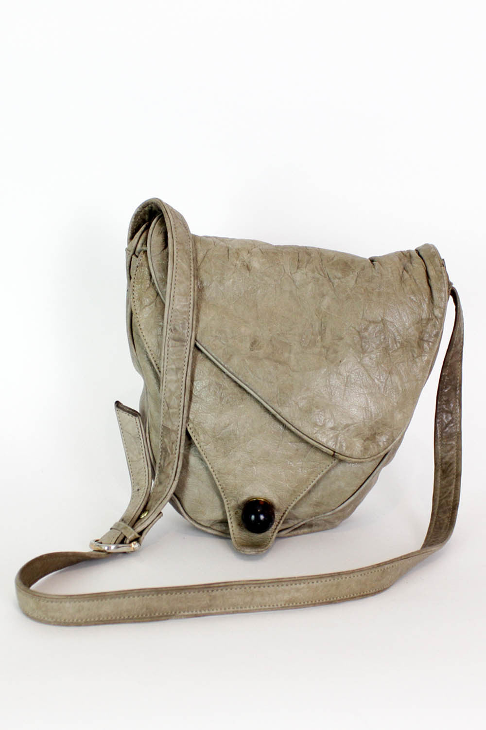 Brie! Crinkle Leather Crossbody Bag