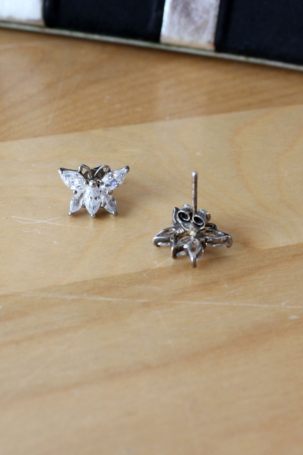 Crystal Butterfly Studs